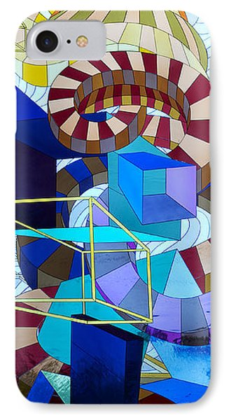 Abstract Art Stained Glass Phone Case by Mountain Dreams