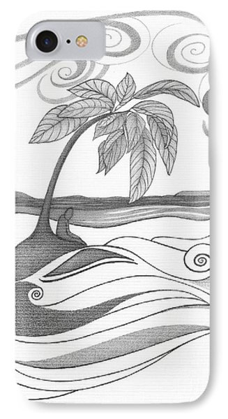 Abstract Art Tropical Black And White Drawing Who Am I To Disagree By Romi Phone Case by Megan Duncanson