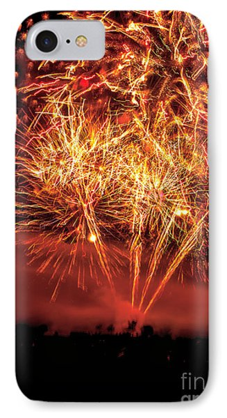Abstract Fireworks IPhone Case by Robert Bales