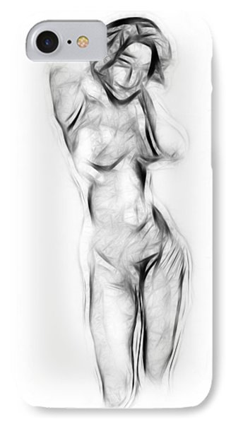 Abstract Nude IPhone Case by Steve K