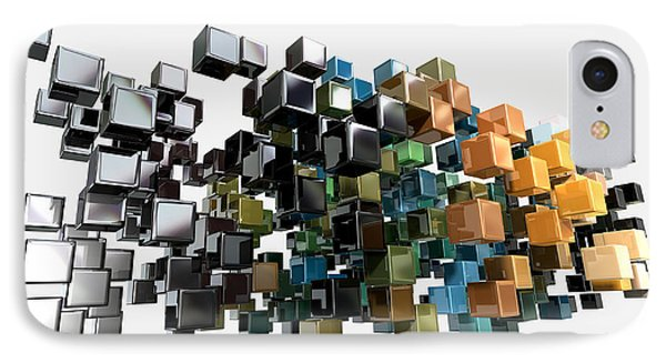 Abstract Shiny Cubes IPhone Case