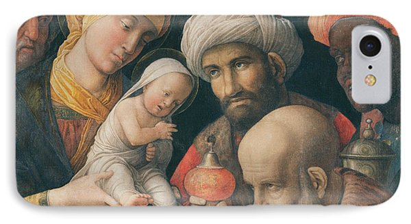 Adoration Of The Magi Phone Case by Andrea Mantegna