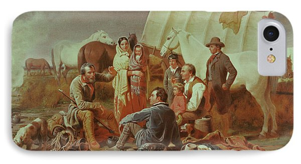 Advice On The Prairie  Phone Case by William Tylee Ranney