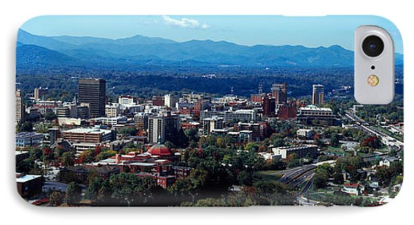 Aerial View Of A City, Asheville IPhone Case by Panoramic Images