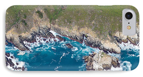 Aerial View Of A Coast, Big Sur IPhone Case by Panoramic Images