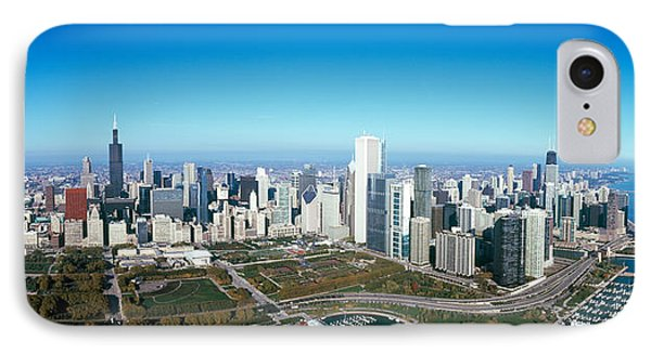 Aerial View Of A Park In A City IPhone Case by Panoramic Images