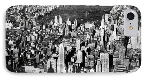 Aerial View Of Central Park IPhone Case by Underwood Archives