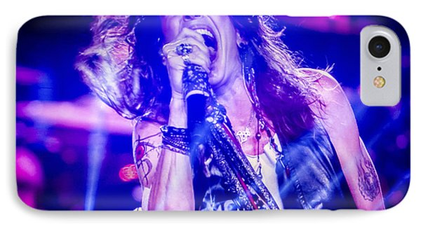 Aerosmith Steven Tyler Singing In Concert Phone Case by Jani Bryson