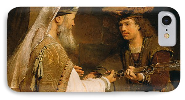 Ahimelech Giving The Sword Of Goliath To David IPhone Case by Aert de Gelder