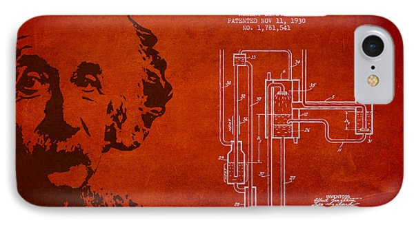 Albert Einstein Patent Drawing From 1930 Phone Case by Aged Pixel