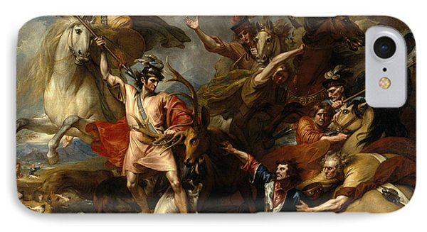 Alexander IIi Of Scotland Rescued From The Fury Of A Stag By The Intrepidity Of Colin Fitzgerald  IPhone Case
