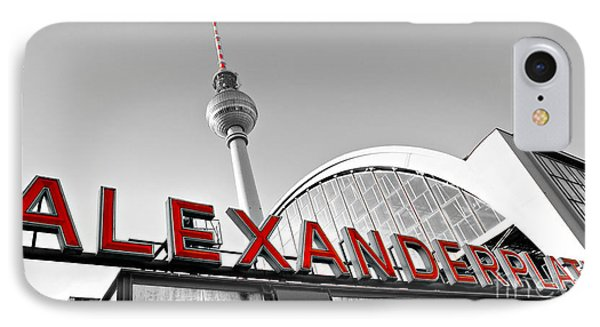 Alexander Platz - Berlin IPhone Case by Luciano Mortula