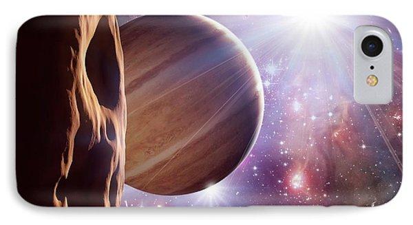 Alien Planet And Star Cluster IPhone Case by Detlev Van Ravenswaay