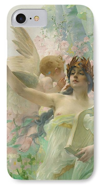 Allegory Of Music IPhone Case by Paul Francois Quinsac