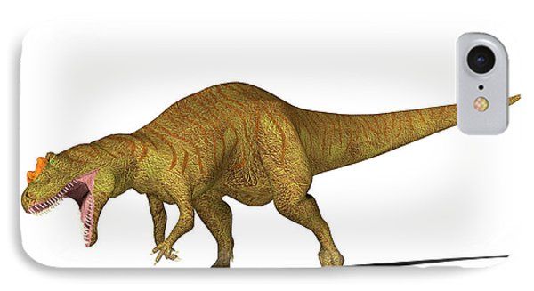 Allosaurus Dinosaur IPhone Case by Friedrich Saurer