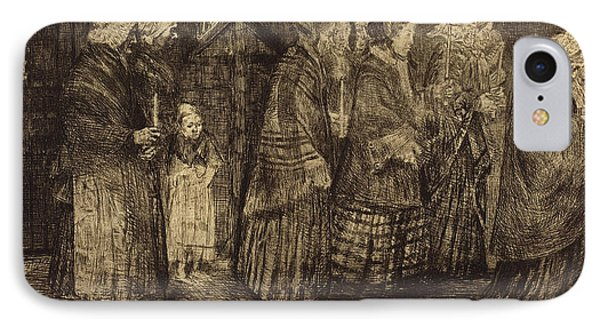 Alphonse Legros French, 1837 - 1911 IPhone Case