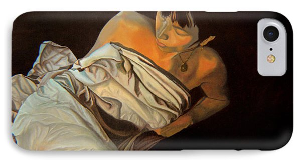 IPhone Case featuring the painting 1 Am by Thu Nguyen