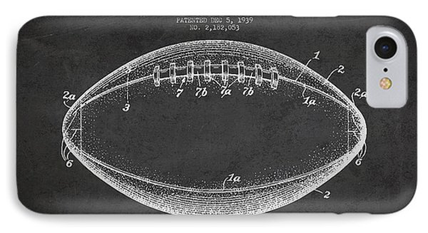 American Football Patent Drawing From 1939 IPhone Case by Aged Pixel