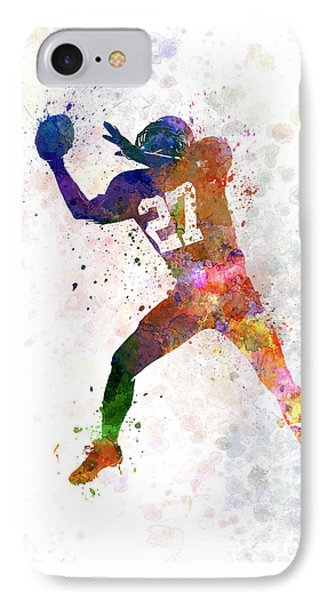 American Football Player Man Catching Receiving IPhone Case by Pablo Romero