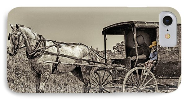Amish Boy Tips Hat IPhone Case by Robert Frederick
