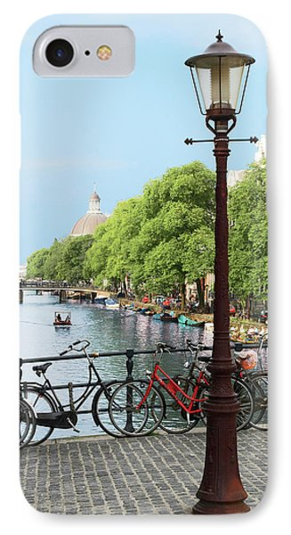 Amsterdam, Holland, Old Gas Lamp Post IPhone Case by Miva Stock