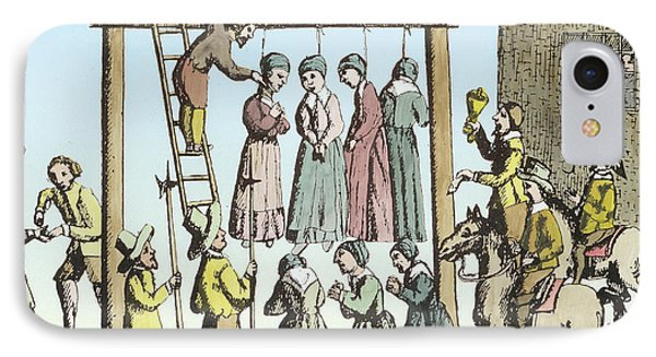 An Execution Of Witches In England IPhone Case by English School