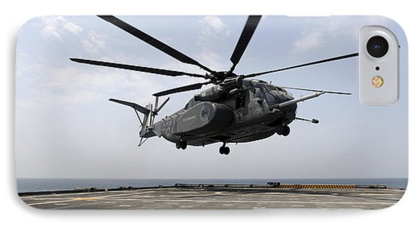 An Mh-53e Sea Dragon Prepares To Land Phone Case by Stocktrek Images