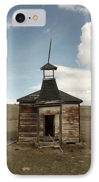 An Old Montana School House  IPhone Case by Jeff Swan