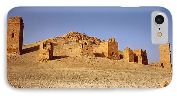 Ancient Tombs On A Landscape, Palmyra IPhone Case by Panoramic Images