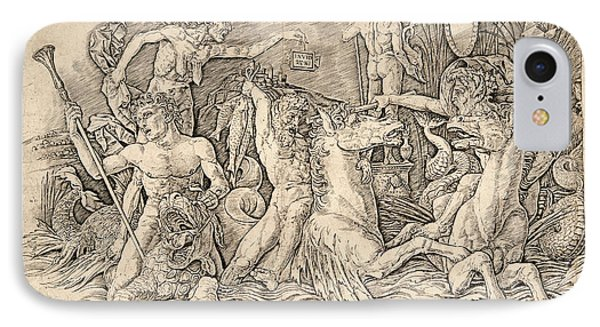 Andrea Mantegna Italian, Ca. 1431 - 1506. Battle IPhone Case by Litz Collection