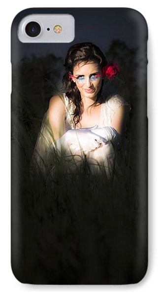Angel Sitting In The Darkness IPhone Case by Jorgo Photography - Wall Art Gallery