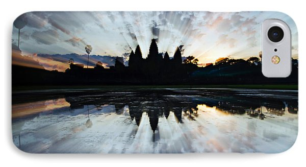 Angkor Wat IPhone Case by Brad Grove