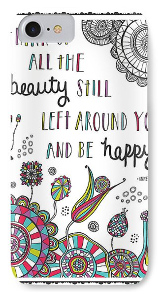 Anne Frank Quote IPhone Case by Susan Claire