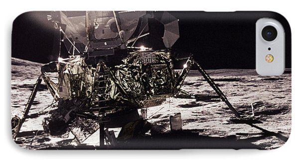 Apollo 17 Moon Landing Phone Case by Science Source