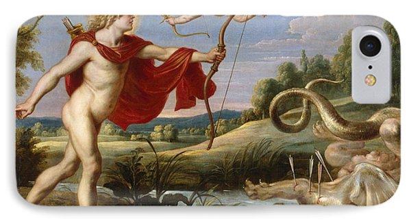 Apollo And The Python IPhone Case by Cornelis de Vos