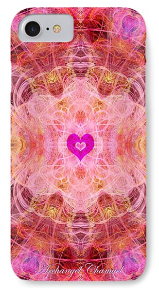Archangel Chamuel IPhone Case by Diana Haronis