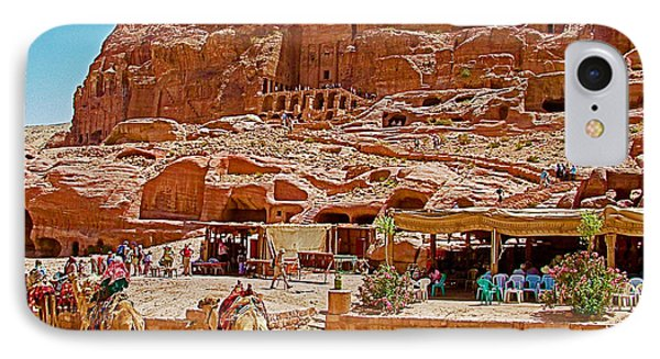 Area In Front Of Tombs Of The Kings In Petra-jordan Phone Case by Ruth Hager