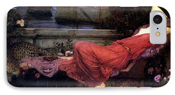 Minotaur iPhone 7 Case - Ariadne by John William Waterhouse