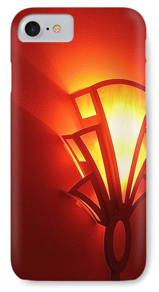 IPhone Case featuring the photograph Art Deco Theater Light by David Lee Guss