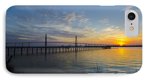 Sunset Over The Charleston Waters IPhone Case by Dale Powell