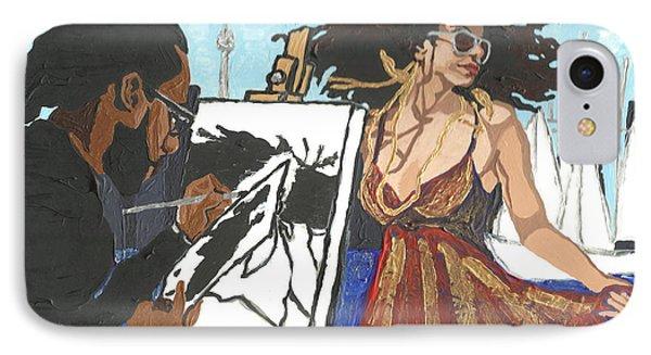 Artist At Work IPhone Case by Rachel Natalie Rawlins