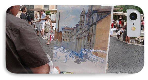 Artist At Work Rome Phone Case by Ylli Haruni