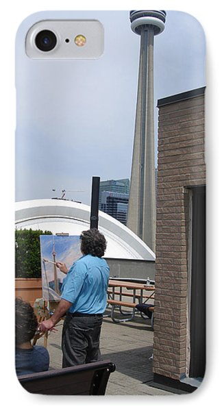 Artist At Work Toronto IPhone Case by Ylli Haruni