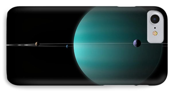 Artists Depiction Of A Ringed Gas Giant Phone Case by Marc Ward