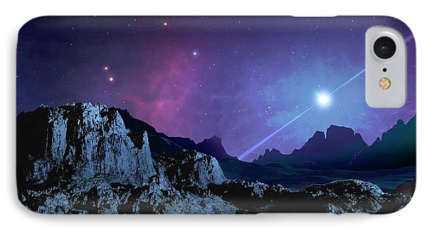 Artwork Of A Planet Orbiting A Pulsar IPhone Case