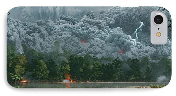 Artwork Of A Pyroclastic Flow IPhone Case by Mark Garlick