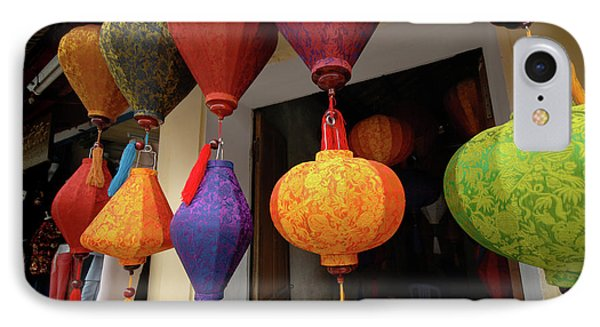 Asia, Vietnam Colorful Fabric Lanterns IPhone Case by Kevin Oke