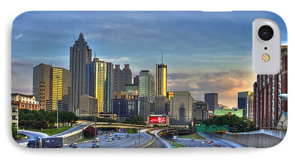 Atlanta Sunset Reflections IPhone Case by Reid Callaway