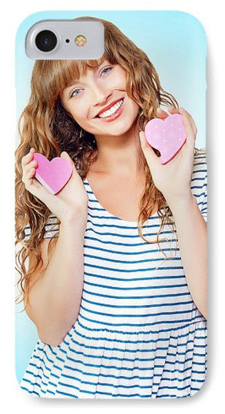 Attractive Young Teenage Girl In Love IPhone Case by Jorgo Photography - Wall Art Gallery