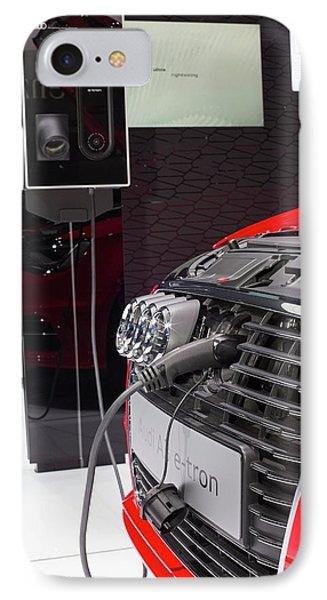 Audi A-3 E-tron Electric Car IPhone Case by Jim West